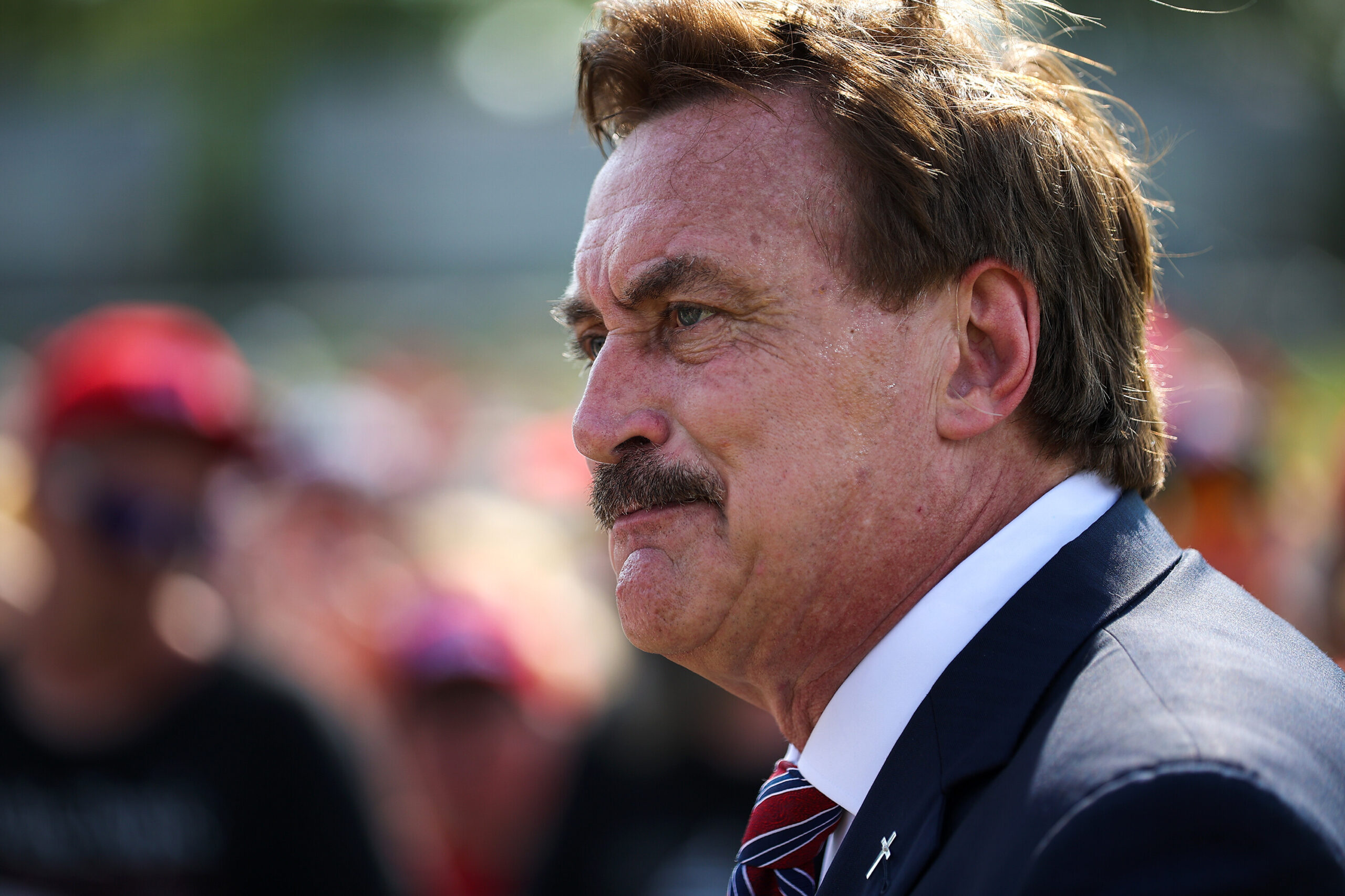 <i>Tayfun Coskun/Anadolu Agency/Getty Images</i><br/>On Thursday Mike Lindell told the Wall Street Journal that he is pulling his pillow ads from Fox. Lindell known also as