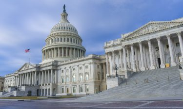Exterior view of the US Capitol building