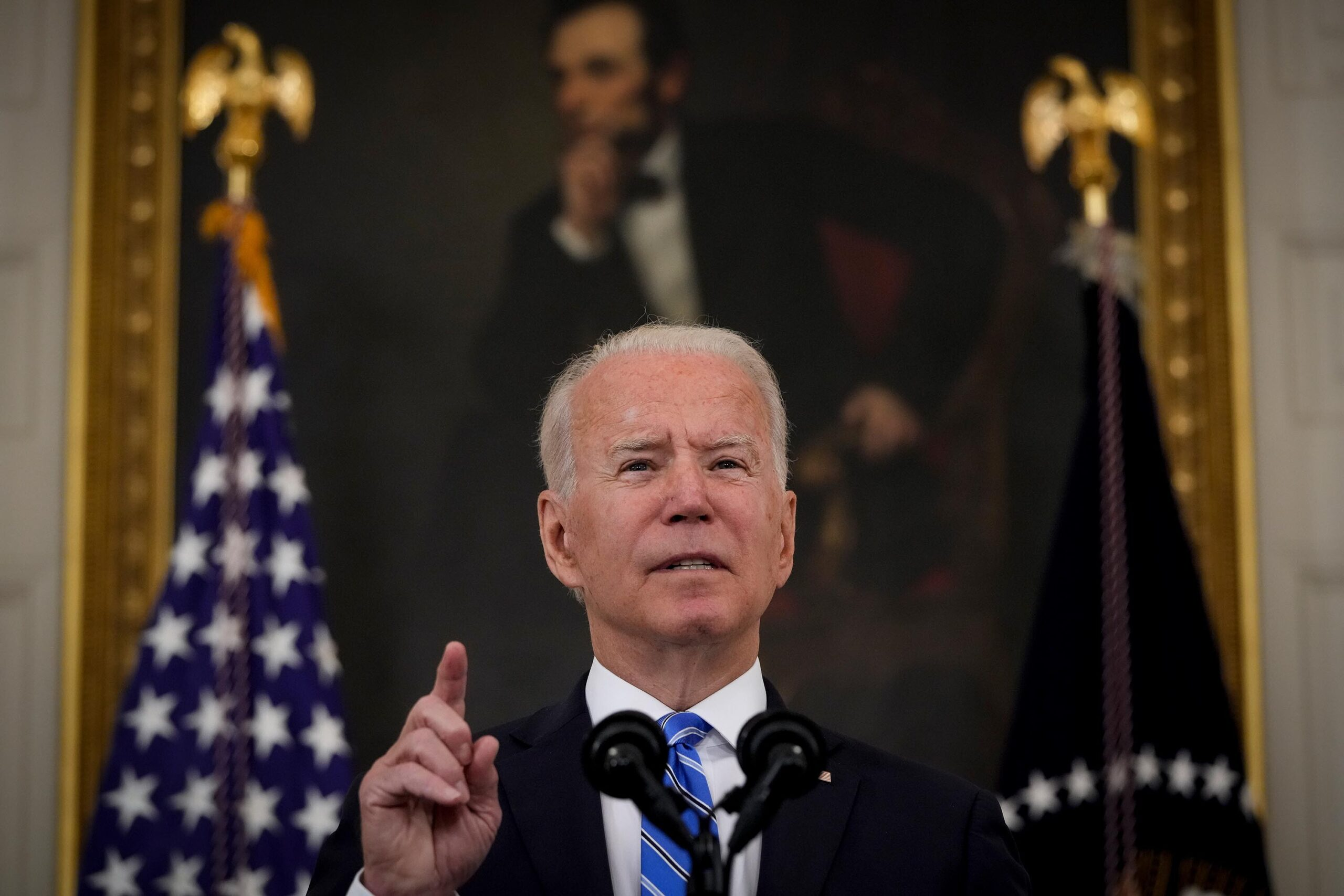 <i>Drew Angerer/Getty Images</i><br/>President Joe Biden on July 29 highlighted the responsibility that college students have to ensure their campuses are safe not just from the Covid-19 pandemic