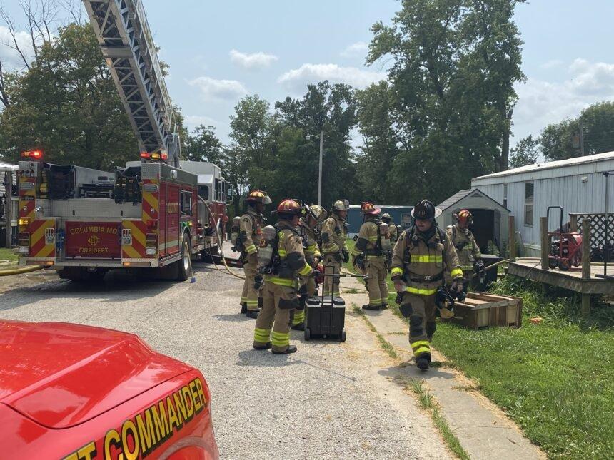 Fire at Elm Grove Trailer Park