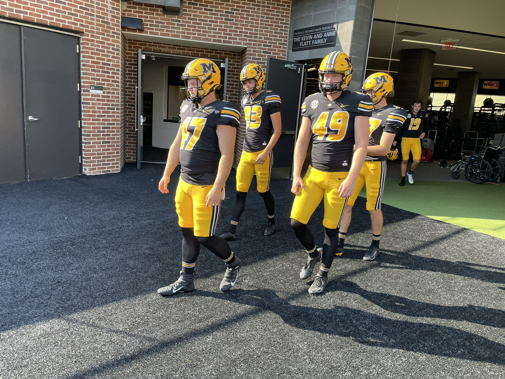 Mizzou players take the field against Southeast Missouri State on Saturday, Sept. 18, 2021.
