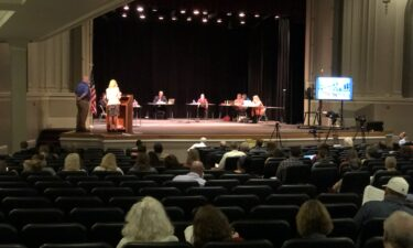 Jefferson City Board of Education meeting in the Miller Performing Arts Center.