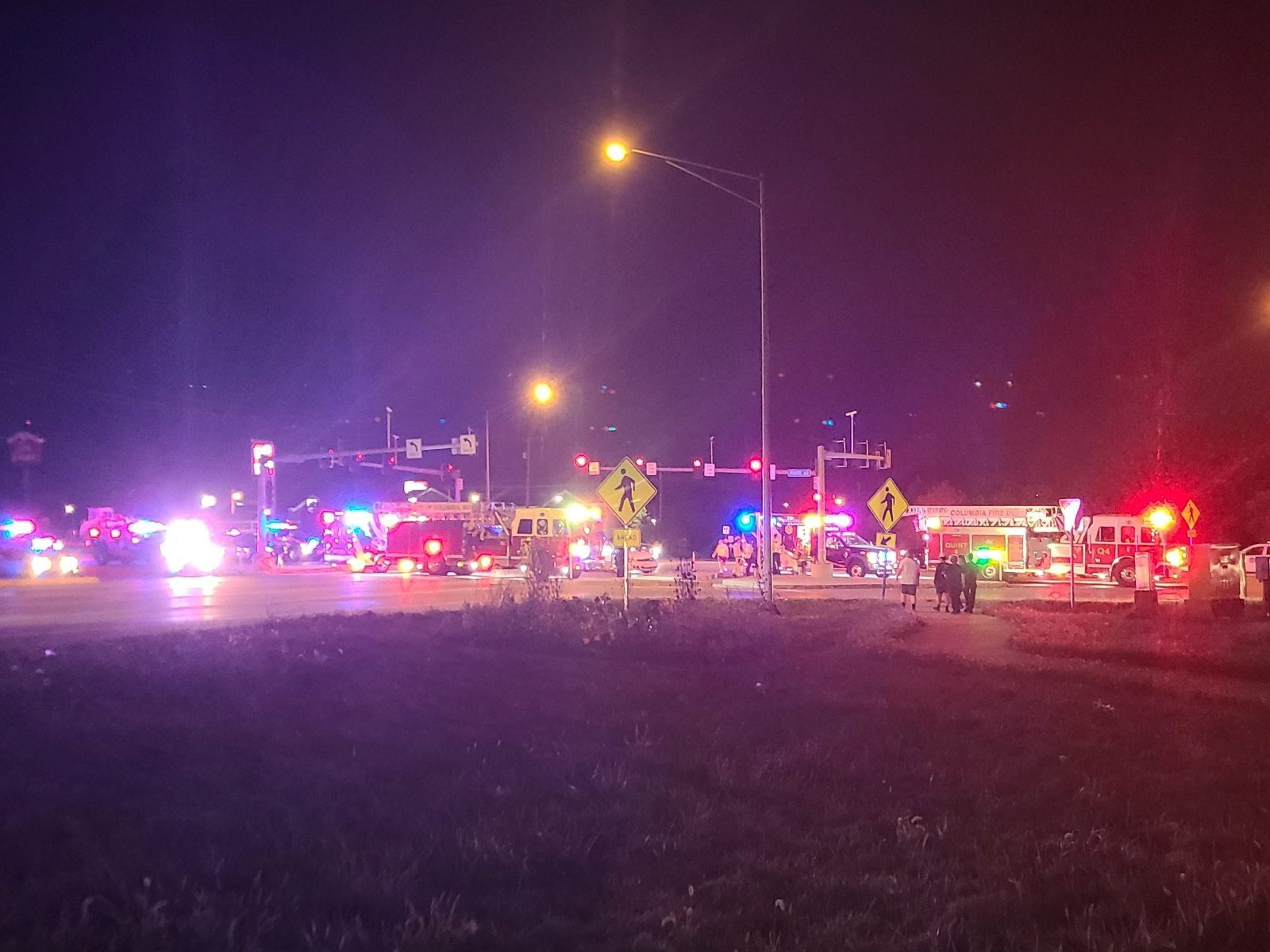 Vehicle collision at Clark Ln and Connector