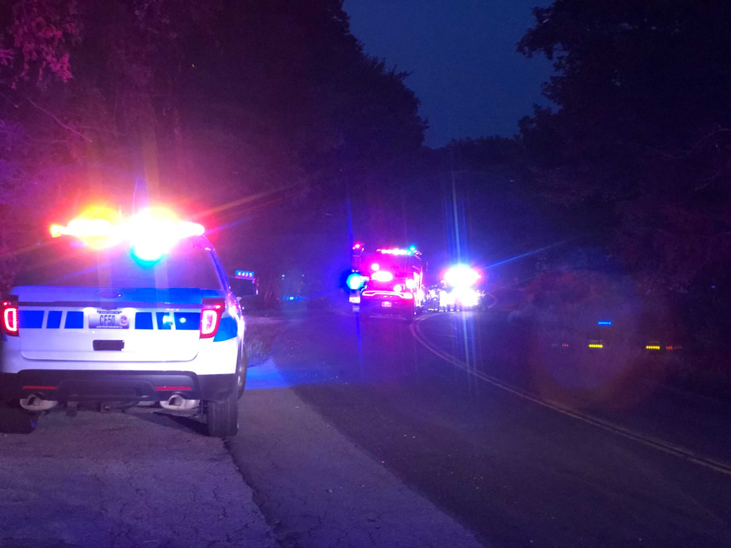 Law enforcement blocks off Route PP in Boone County following a crash Monday night.
