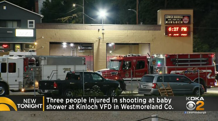 <i>KDKA</i><br/>Three people were shot at a baby shower at the Kinloch Volunteer Fire Department on September 18