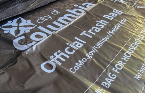 City of Columbia stamped trash bags.