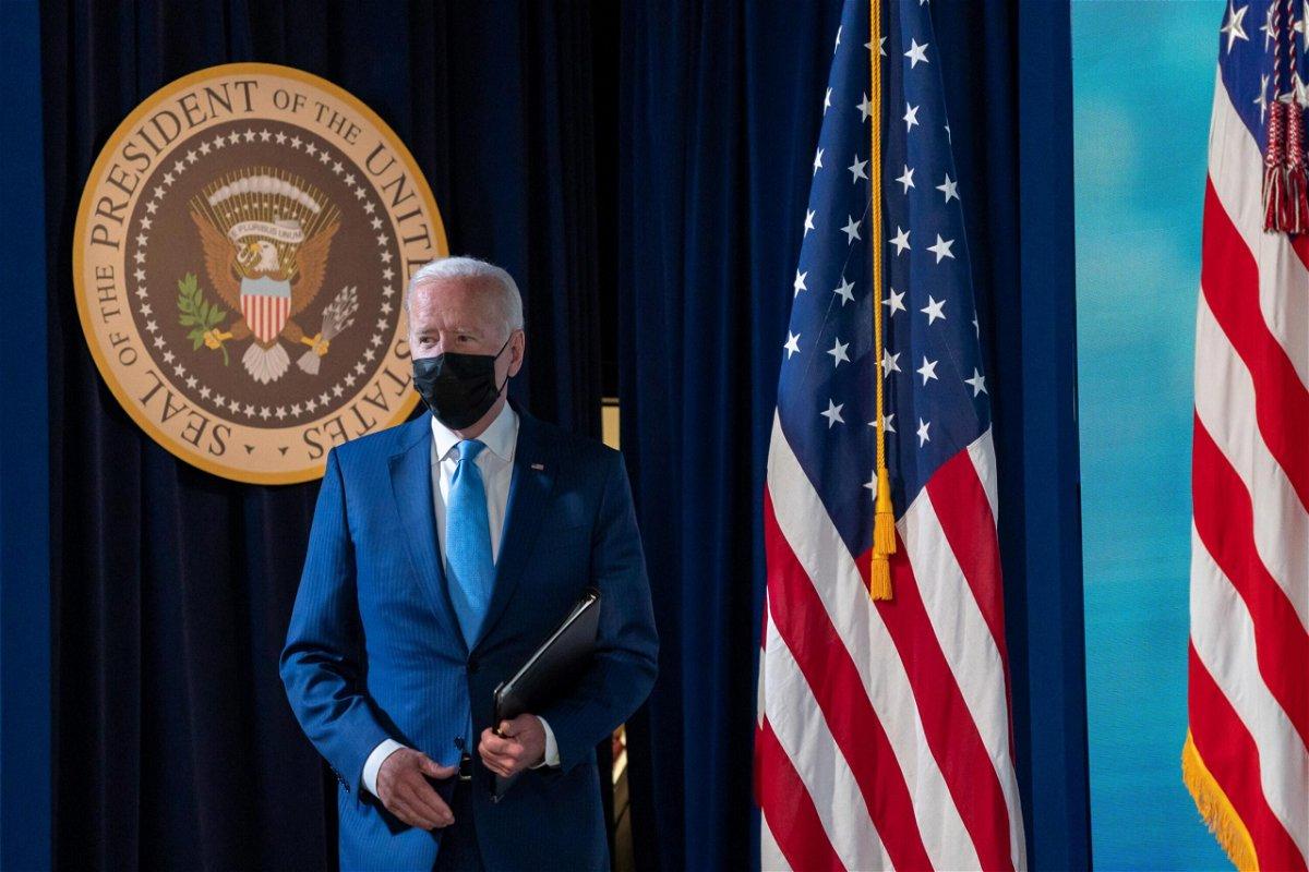 <i>Ken Cedeno/UPI/Bloomberg/Getty Images</i><br/>President Joe Biden
