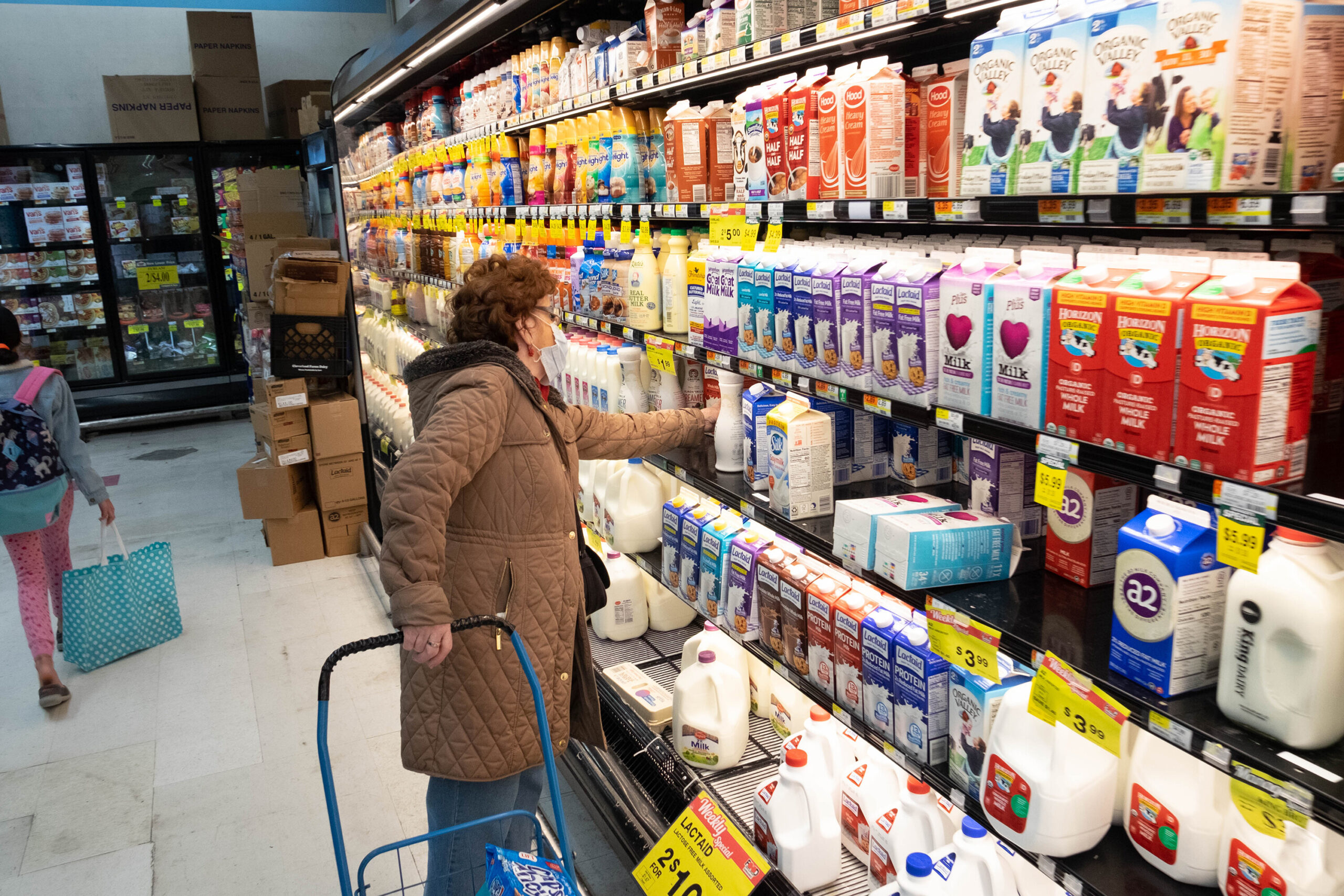 <i>Braulio Jatar/SOPA Images/Shutterstock</i><br/>The dairy shelf is crowded