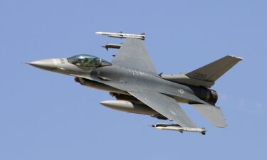 A small aircraft was intercepted over the Hudson River Tuesday by an F-16 fighter jet similar to the one shown in this library photo.
