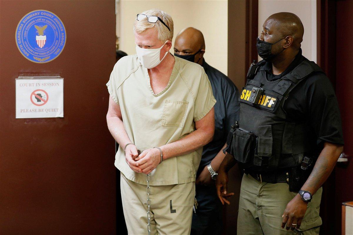<i>Mic Smith/AP</i><br/>Alex Murdaugh walks into his bond hearing on September 16.