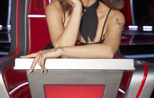 Ariana Grande on 'The Voice.'