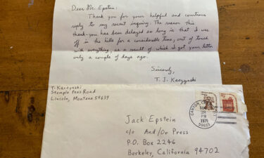 Jack Epstein discovered the letters last month while he was cleaning out his attic.
