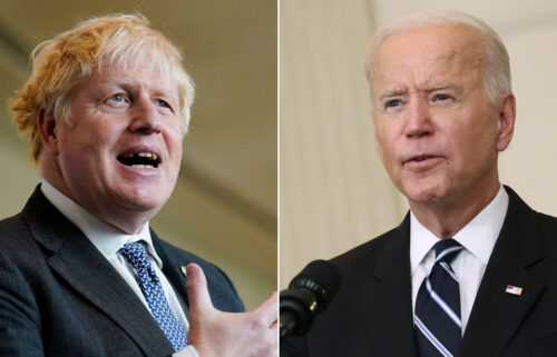 President Joe Biden did not attend Prime Minister Boris Johnson's Monday meeting about global climate financing.