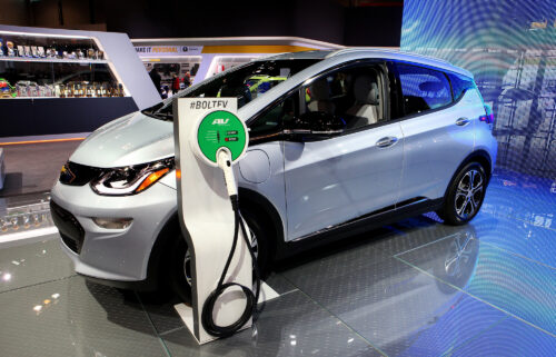 General Motors announces it will begin replacing damaged and fire-prone battery cells on some of its recalled Chevrolet Bolt electric vehicles in mid-October