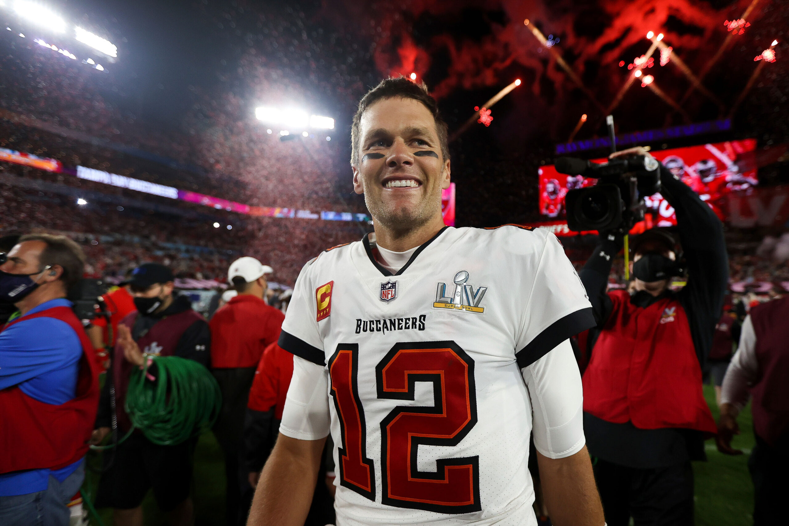 <i>Ben Liebenberg/AP</i><br/>44-year-old Tom Brady wants to stave off NFL retirement for another six years. Brady is seen here on February 7