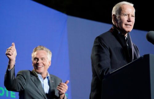 President Joe Biden on Tuesday excoriated Virginia Republican Glenn Youngkin during his final event with Democrat Terry McAuliffe ahead of next week's election