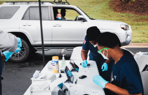 Marietta City Schools' drive-thru test-to-stay program in Marietta