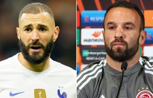 """French soccer star Karim Benzema faces a charge of """"complicity in attempted blackmail"""" against former French national teammate Mathieu Valbuena."""