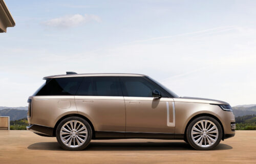 The new Land Rover Range Rover maintains the big SUV's classic proportions.