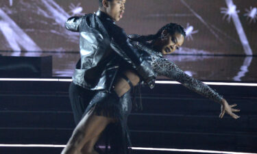 """Brandon Armstrong and Kenya Moore on Monday's horror-themed episode of """"Dancing With the Stars"""""""