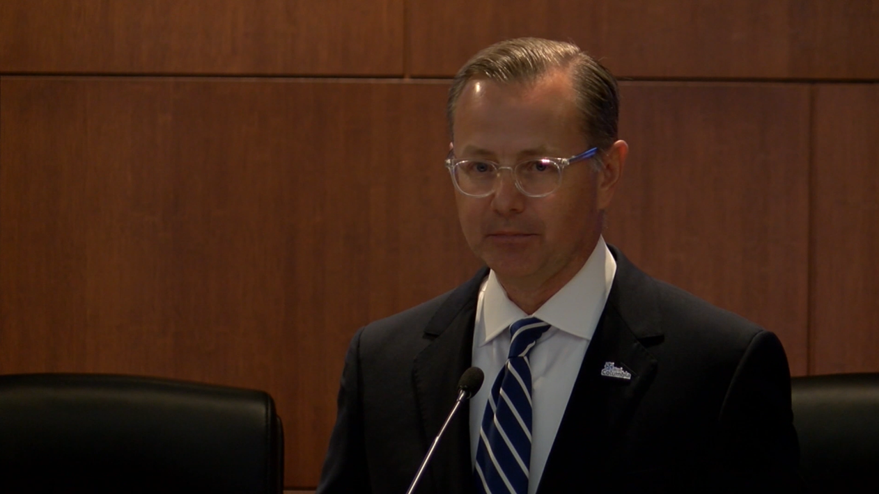 Columbia Mayor Brian Treece announces he won't run for mayor in 2022 on Sept. 17. The MEC ordered he dissolve his campaign committee following complaints over his having one while working as a lobbyist.